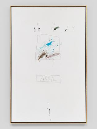 Cy Twombly Virgil 1963 oil paint, lead pencil, and...