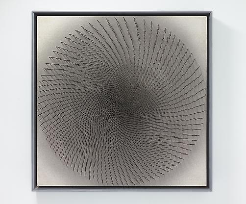 Günther Uecker, Dunkle Spirale (Dark Spiral),...