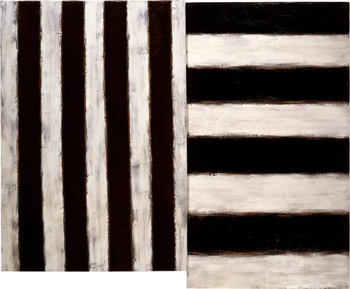 Sean Scully Shelter Island 1982 oil on linen 45 x...