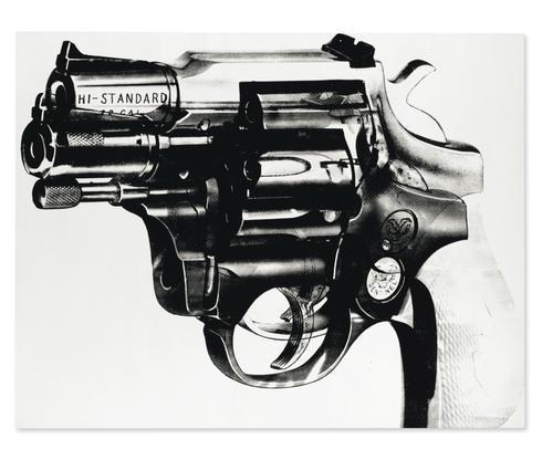 Andy Warhol Gun 1981-82 acrylic and silkscreen ink...