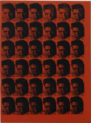 Andy Warhol Red Elvis 1962 silkscreen ink and acry...