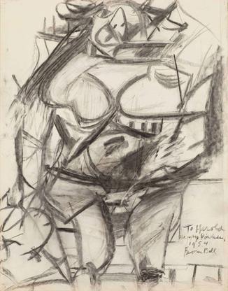 Willem de Kooning Monumental Woman 1954 charcoal o...