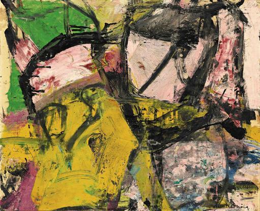Willem de Kooning Sagamore 1955 oil, enamel and ch...