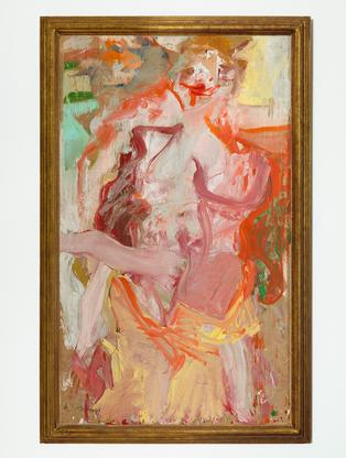 Willem de Kooning Two Women 1964 oil on vellum mou...