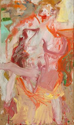 Willem de Kooning Two Women 1954 oil on vellum mou...