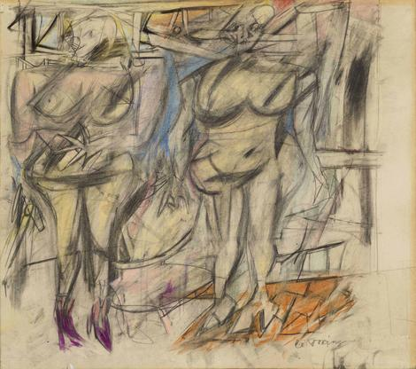 Willem de Kooning Two Women IV 1952 graphite, colo...