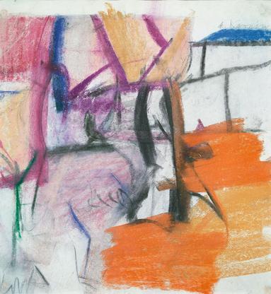 Willem de Kooning Untitled #4 1956-58 pastel on pa...
