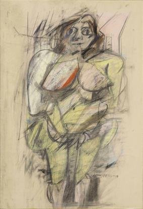 Willem de Kooning Woman 1952 pastel and graphite o...