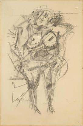 Willem de Kooning Woman 1953 charcoal on paper 36...