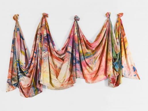 Sam Gilliam Carousel Change 1970 acrylic on draped...