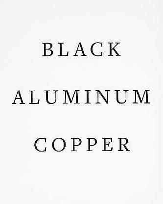 - Black, Aluminum, Copper Paintings - Frank Stella - Publications